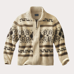 fashion custom turn down collar knitting men zip cardigan sweater