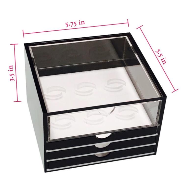 Оптовая продажа, роскошная черная акриловая коробка для ресниц JAYI