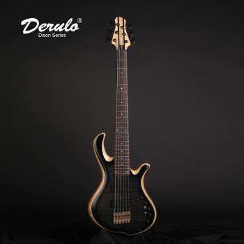 Derulo Bass Electric Guitar OEM Custom 6 Strings Electric Bass Custom Bass 5Pieces Neck& Flamed Maple Top Custombody