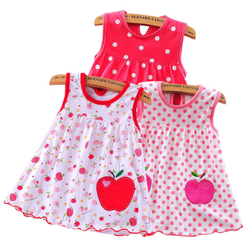 2020 Summer Baby Dress /girl baby single piece clothes for summer/ Infant girls' skirt baby red Children baby girl Dress