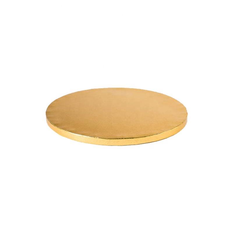 Wood golden and sliver foil cake boards for bakery
