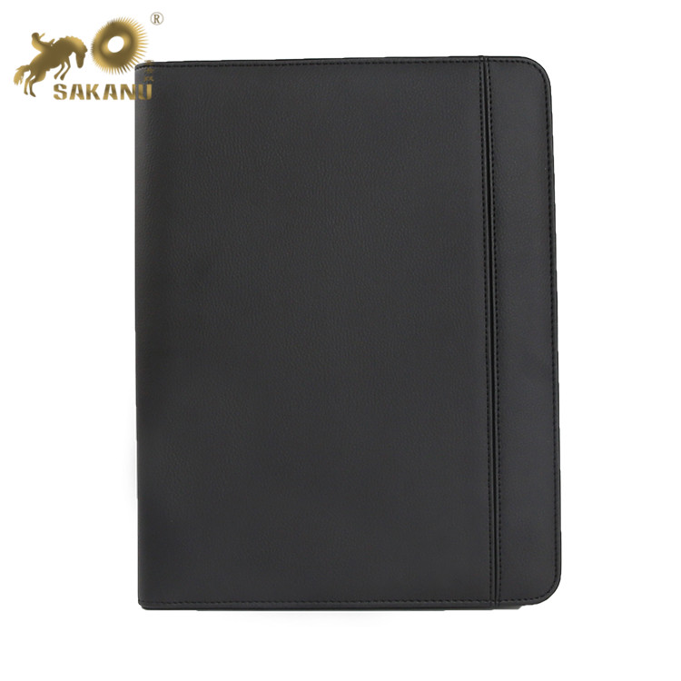 Custom Business Document Briefcase A4 Conference PU Leather Folder