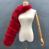 Red fur sleeve