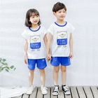 Boy Kids Sleepwear Cotton Custom Kids Boy Short Sleeve Casual Sleepwear Clothing Set Summer Home Set 100% Cotton