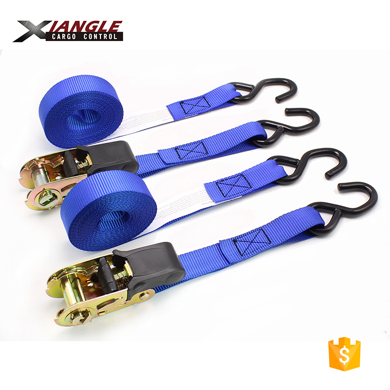 25mm 1 inch 1500lbs rubber handle ratchet buckle tie down straps ratchet cargo lashing strap belt replacement s hooks