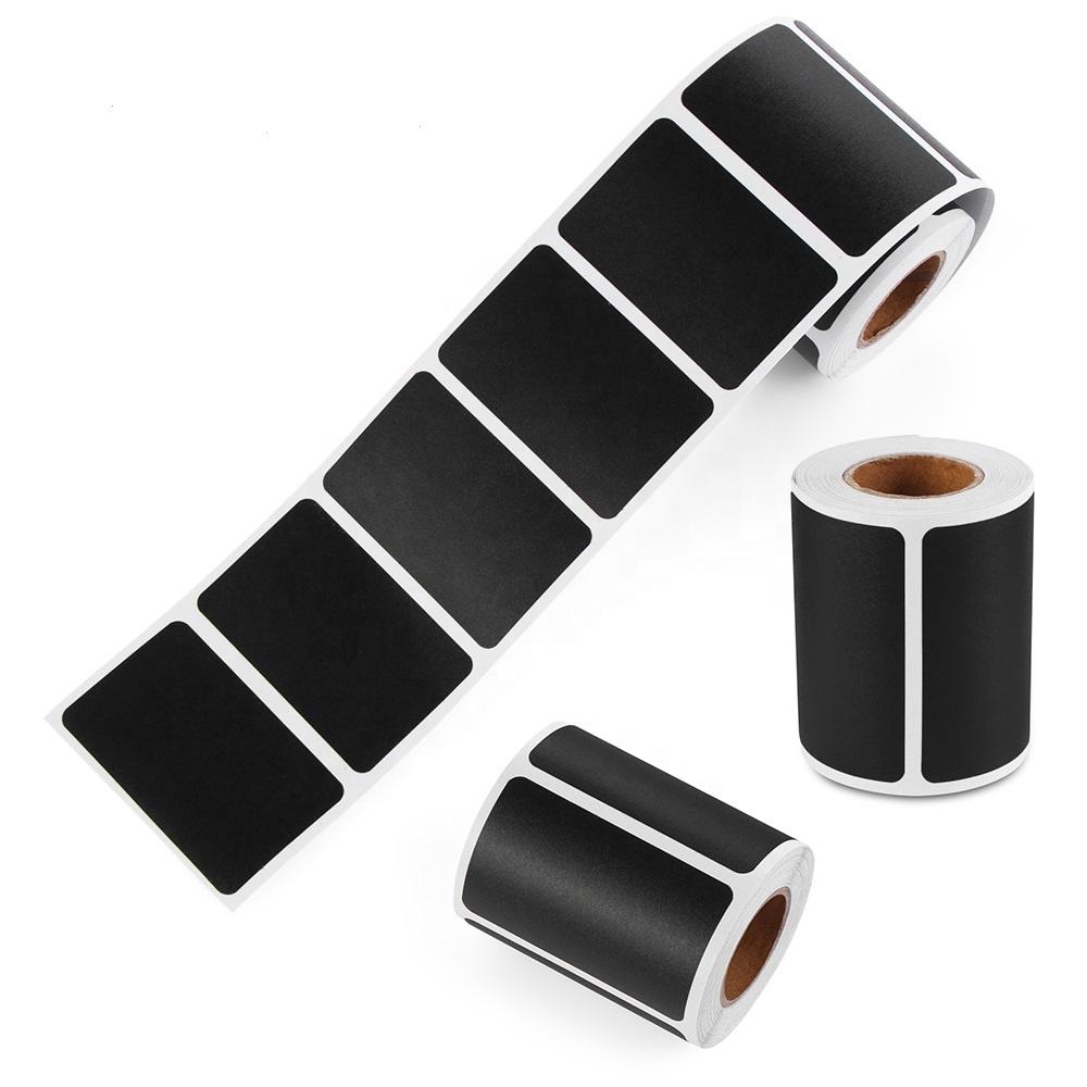 500pcs/roll Waterproof Chalkboard Kitchen Spice Label Stickers Home Jam Jar Bottle Tags Blackboard Labels Stickers Marker Pen