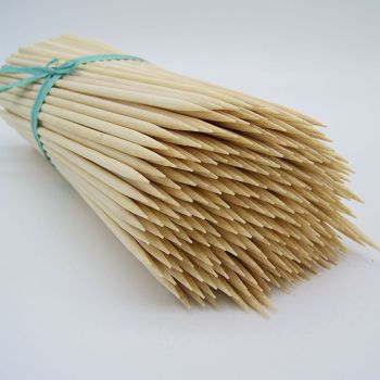 Bamboo Skewers Paddle Sticks Skewer Picks for BBQs Barbeque Kebabs Chicken/Meat Fruit/ Cocktail