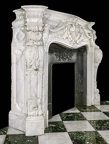 LOUIS XV Style French Luxury Home Indoor Decoration Hand Carved Mantel Natural Marble Stone Fireplace Surrounds