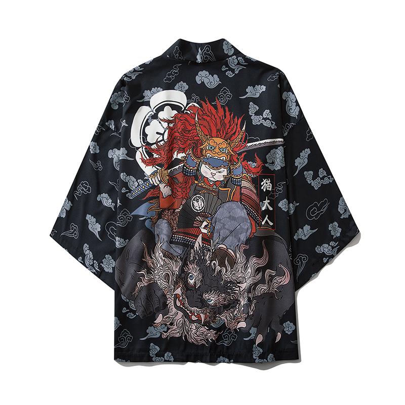 17 Style Harajuku Japanese Fashion Kimono 2021 Men and Women Cardigan Blouse Haori Obi Asian Clothes Samurai
