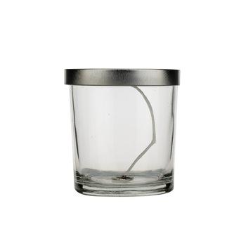 Оптовая продажа, уникальная матовая стеклянная банка для свечей объемом от 100 мл до 500 мл
