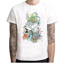 Мужская и женская футболка Totoro, летняя футболка с героями мультфильмов, из японского аниме, для студии Ghibli Miyazaki Hayao(Китай)