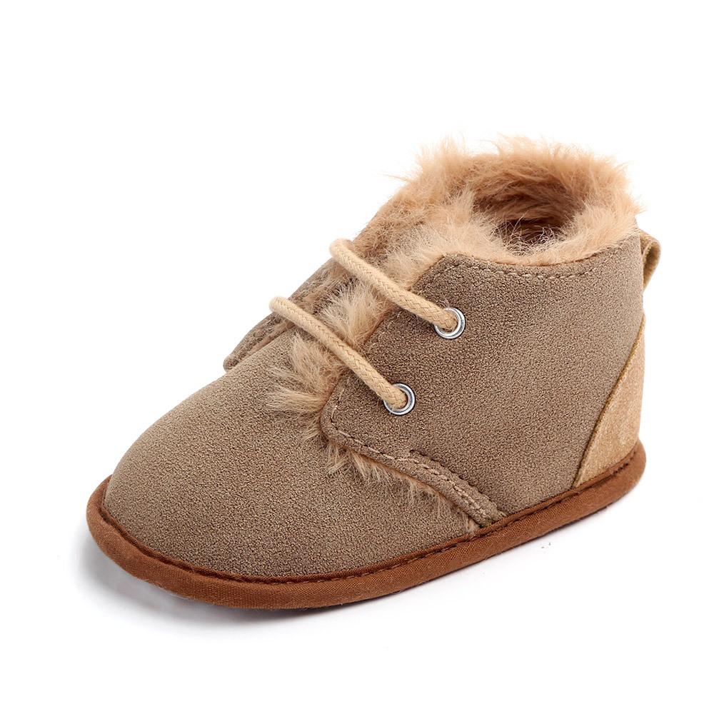 Сезон осень-зима; С защитой от холода для безопасности для ног младенца из хлопка и фланелевой ткани для дома и улицы, детские зимние ботинки на меху