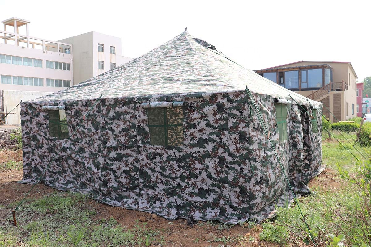 Suitable for crowds gathering Galvanized steel pipe structure military canvas tents waterproof tent canvas army tent military