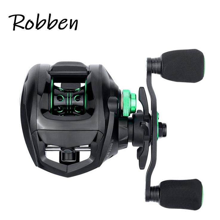 Robben ultralight baitcast reel 8KG Max Drag Left Right Hand Reel Reinforced Nylon Body fishing reels baitcasting