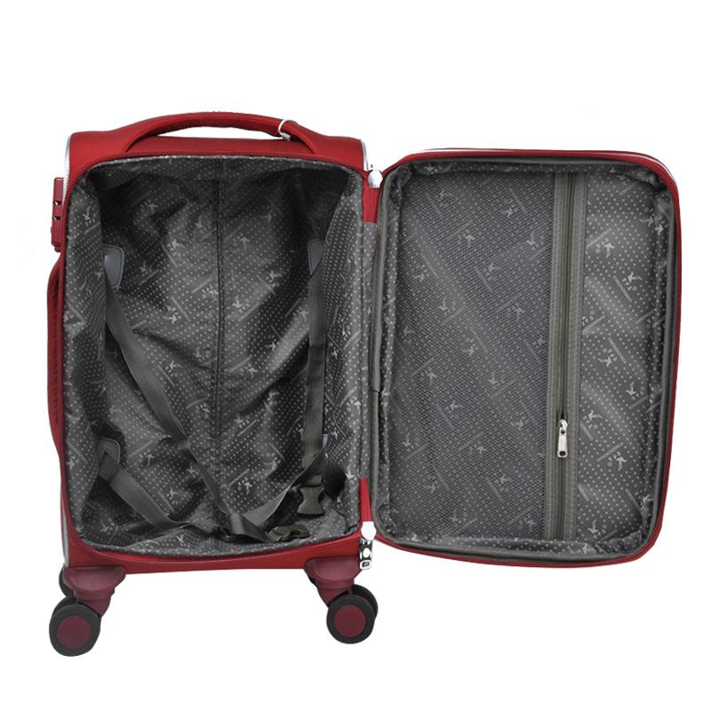 Набор чемоданов на колесиках для женщин, нейлоновая ткань, красные дорожные чемоданы для деловых поездок, ручной чемодан, 20 \