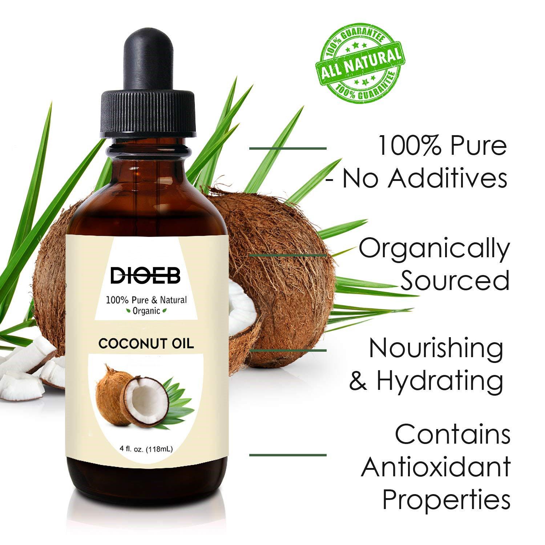Высококачественное чистое органическое неароматизированное антивозрастное увлажняющее кокосовое масло для кожи лица