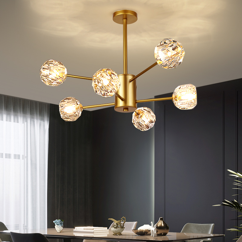 VVS новый модный дизайн G9 Роскошная гостиная в скандинавском стиле железная Золотая стеклянная светодиодная люстра современная