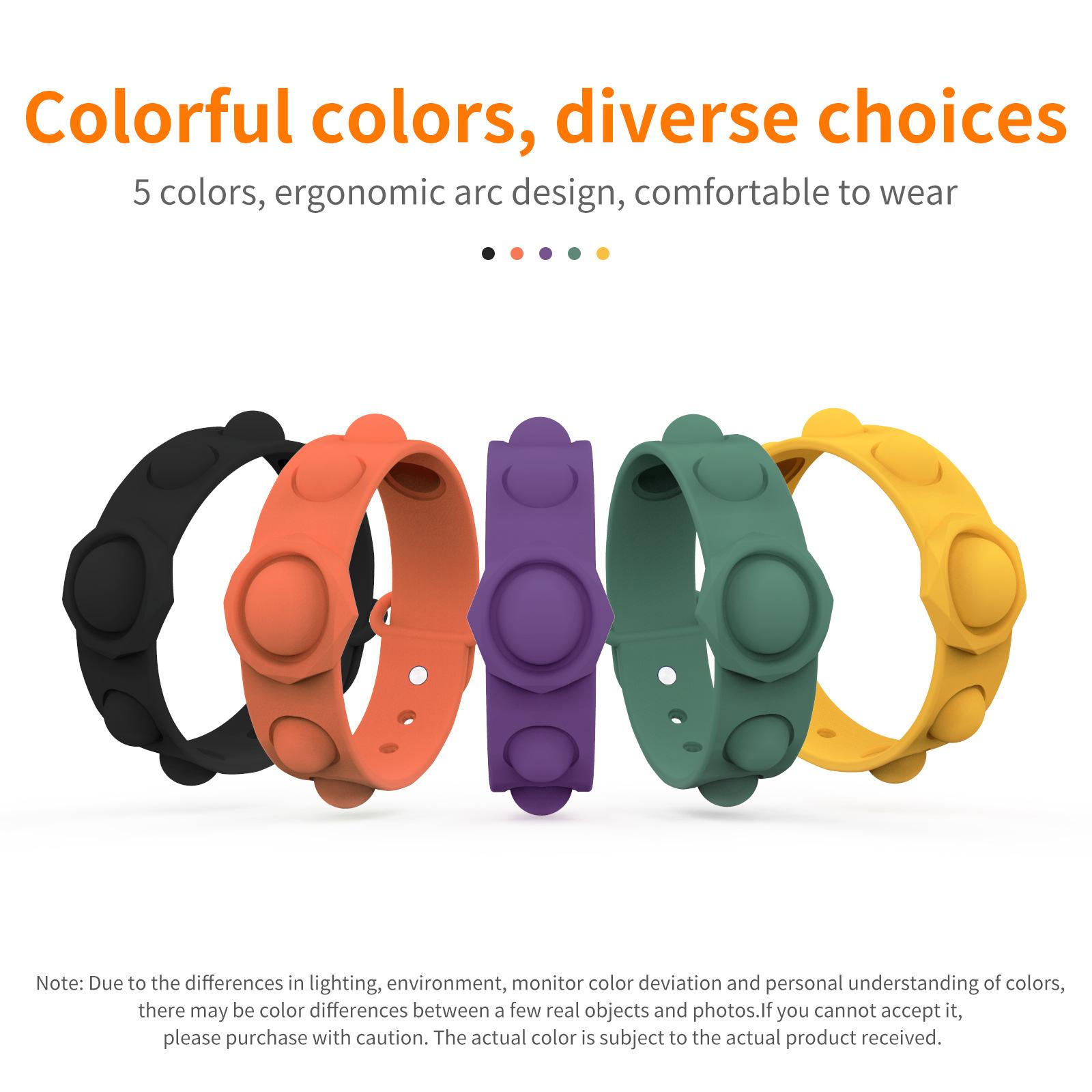 Pop Fidget Toy Bracelet Push Bubble Sensory Wrist Strap Silicone Dimple Stress Relief Wristband Finger Squeeze Fidget Pop