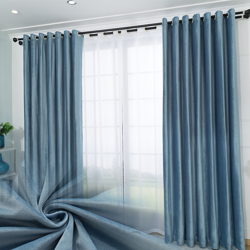 OEM ODM Custom Color Solid High Quality Noise Reducing European Style Blackout Curtain