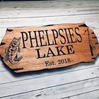 15*5 CM Personalized Engraved Wedding Gifts Wooden Family Name Signs For Desk or Door