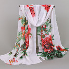 Silk E-lintie Manufacturer Supplier 2020 New Print Chiffon Silk Scarf Lady's Long Scarf