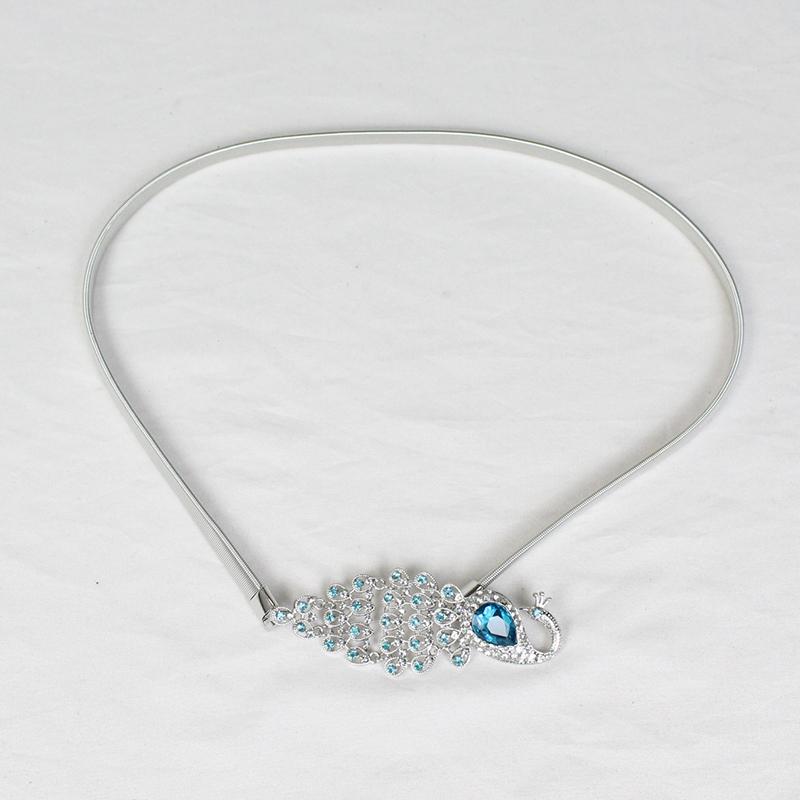 Женский дизайнерский пояс 2021, металлическая эластичная талия, цепочка со стразами