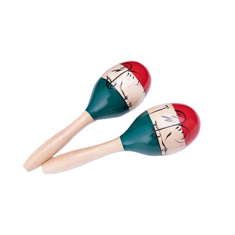 Wholesale china import cheap large wooden egg shape maracas set gift instrument de musique with logo personalized maracas