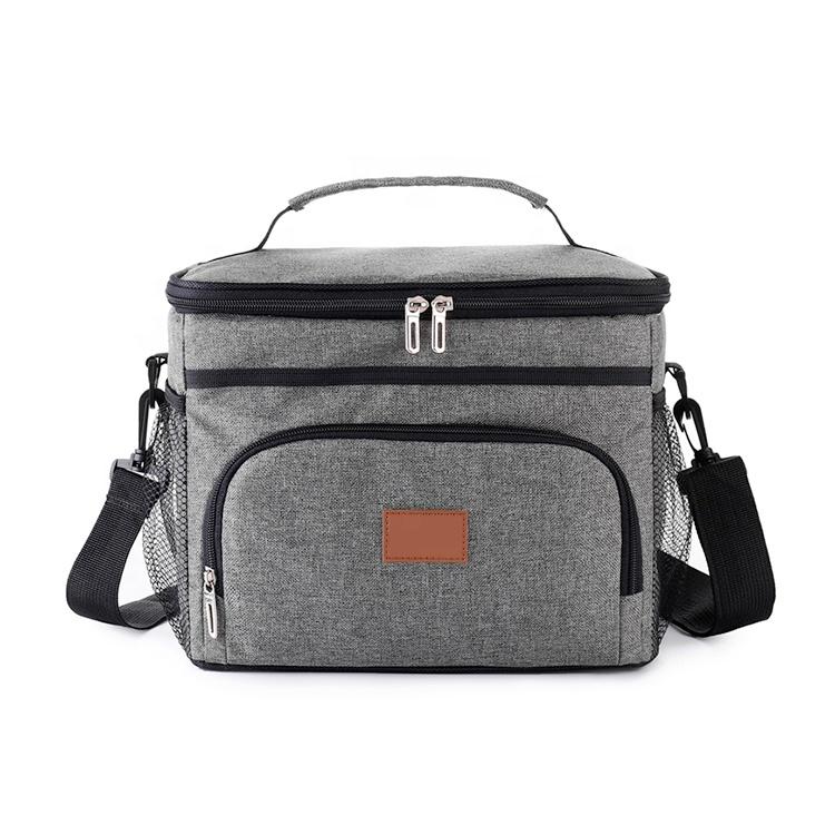 Оптовая продажа, складная сумка для ланча, размер под заказ, 600D, сумка-тоут из ткани Оксфорд, Термосумка для ланча