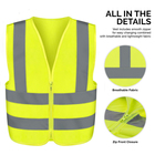 Vest Vest With Pockets Mesh Hi Vis High Visibility Custom Logo Printing Reflect Warning Blue Yellow Safety Reflective Vest With Pockets