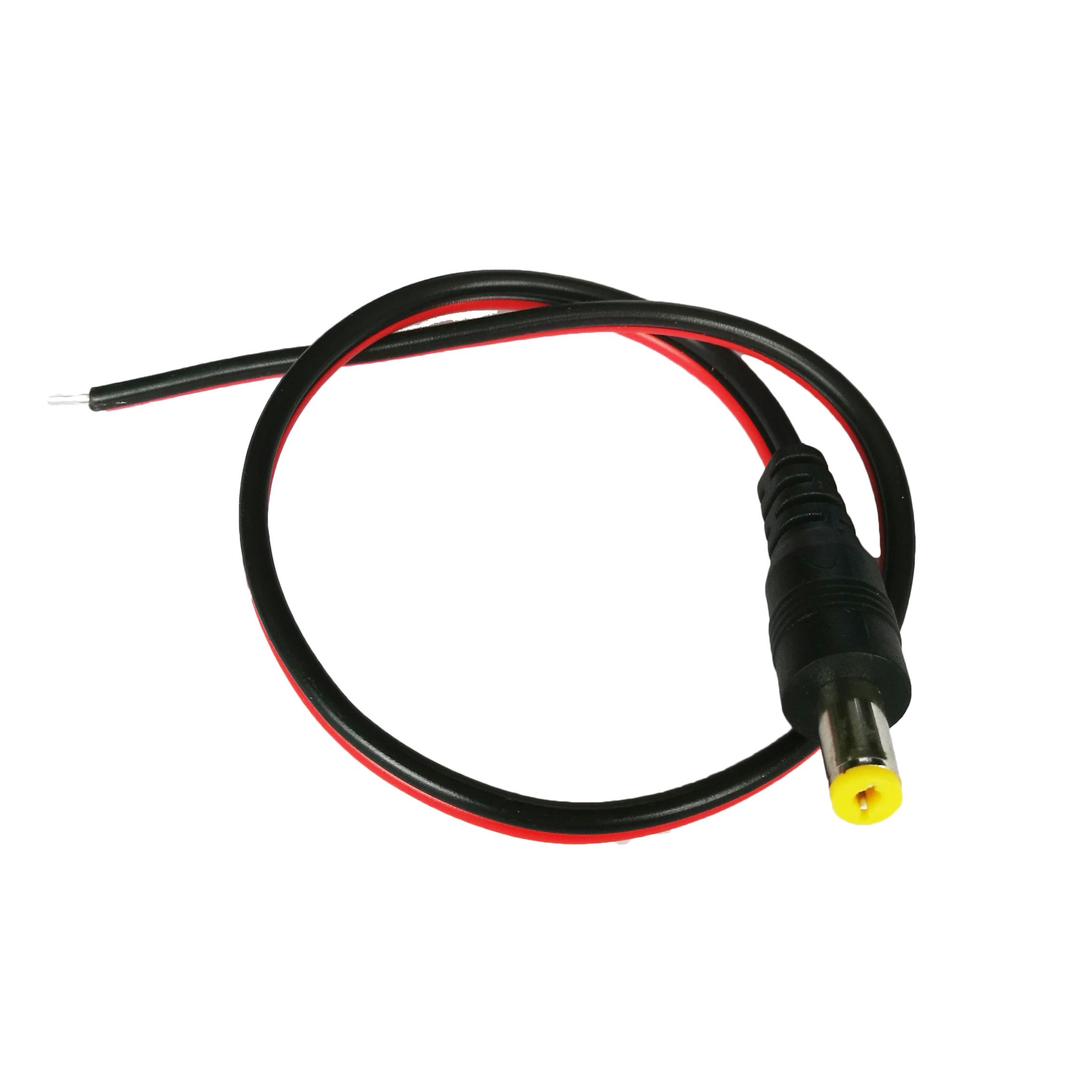 Штекерный кабель питания постоянного тока для камеры видеонаблюдения, разъем питания 12 В, 30 см, адаптер 5,5*2,1 мм