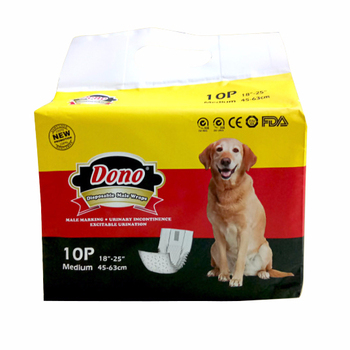 336pcs Disposable Incontinence Potty Training Male Boy Dog Wraps Diapers For Peeing With Wetness Indicator
