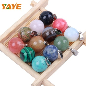 Factory Supply Crystal Gemstone Balls Accessories Gemstone Pendant