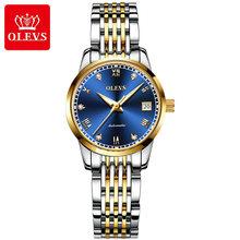 OLEVS классические женские простые часы, автоматические часы из нержавеющей стали с белым циферблатом, наручные часы с автоматической датой, ...(Китай)