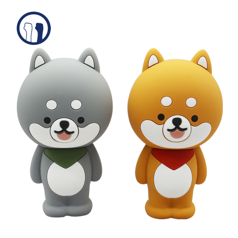Cartoon animal silicon pencil case cute pencil case with custom package, support 2D 3D design services