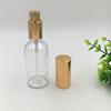 50ml Clear Bottle +Gold Cap