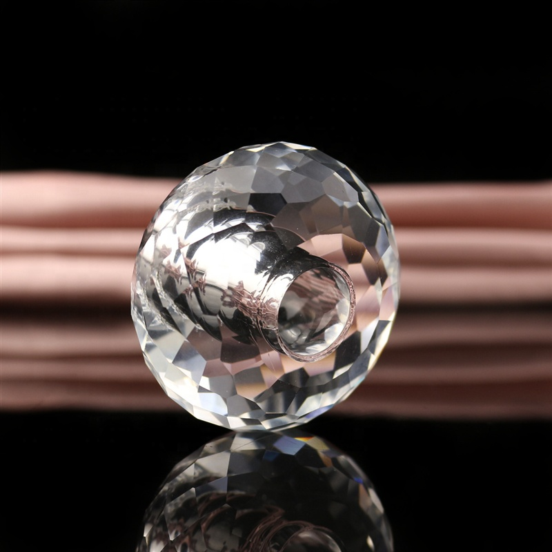 Best seller wholesale cheap price factory directly crystal ball beads/Clear glass faceted crystal ball with hole for decoration