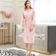 Мужской летний вафельный банный халат, мужской банный халат, сексуальный ночной халат, мужской Халат большого размера, кимоно, халаты для же...(Китай)