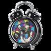 Noir cadeau twin sonnette d'alarme horloge