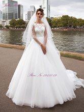 Женское винтажное бальное платье julissa Kui, свадебное платье с бисером, жемчугом и кристаллами, с длинным рукавом, 2020(China)