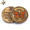 Brass enamel coin