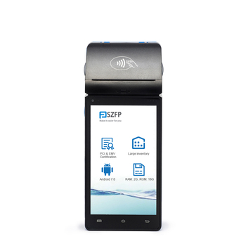 Wireless android payment smart pos terminal touch screen mobile pos systems with thermal printer card readers PCI EMV