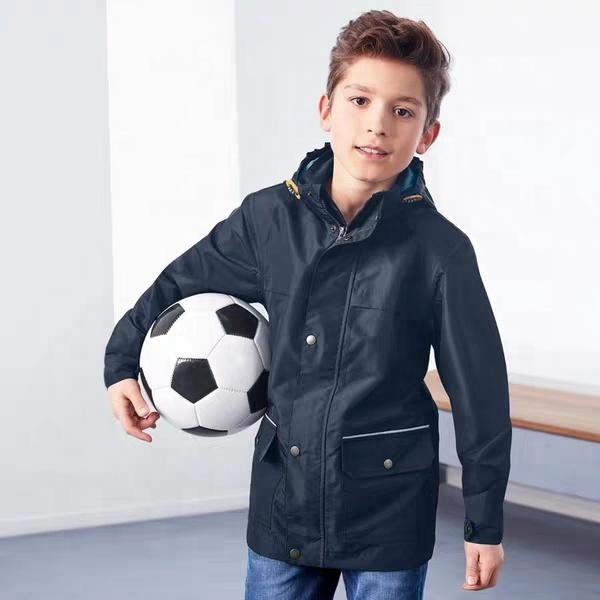 Теплая водонепроницаемая верхняя одежда с капюшоном на заказ для мальчиков, детская зимняя куртка для маленьких мальчиков