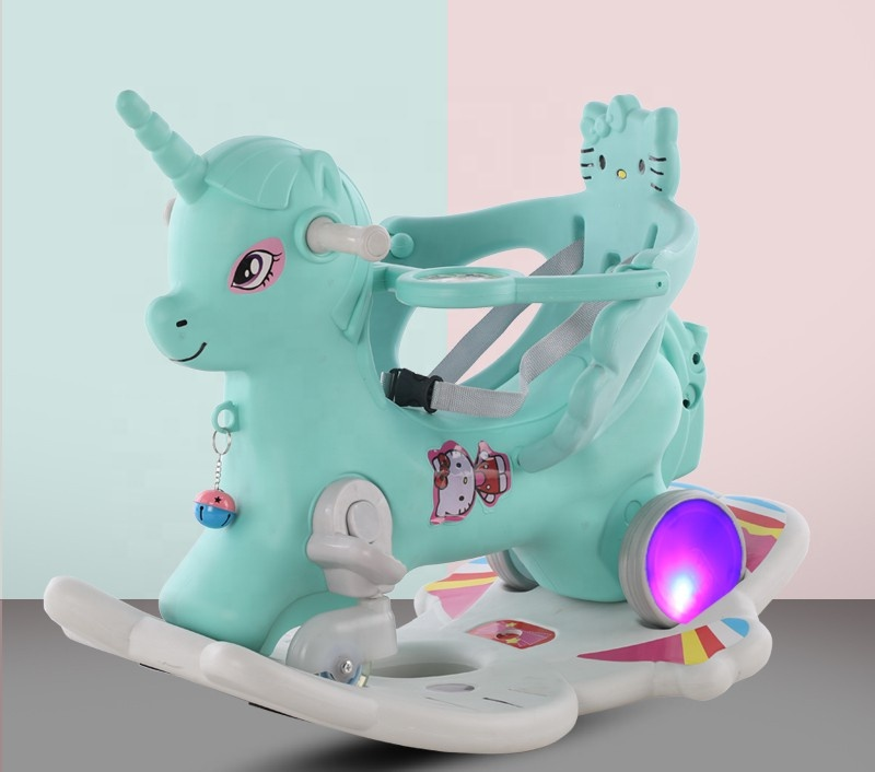 3 in 1Hobby tree new plastic rocking horse rider toys for kids