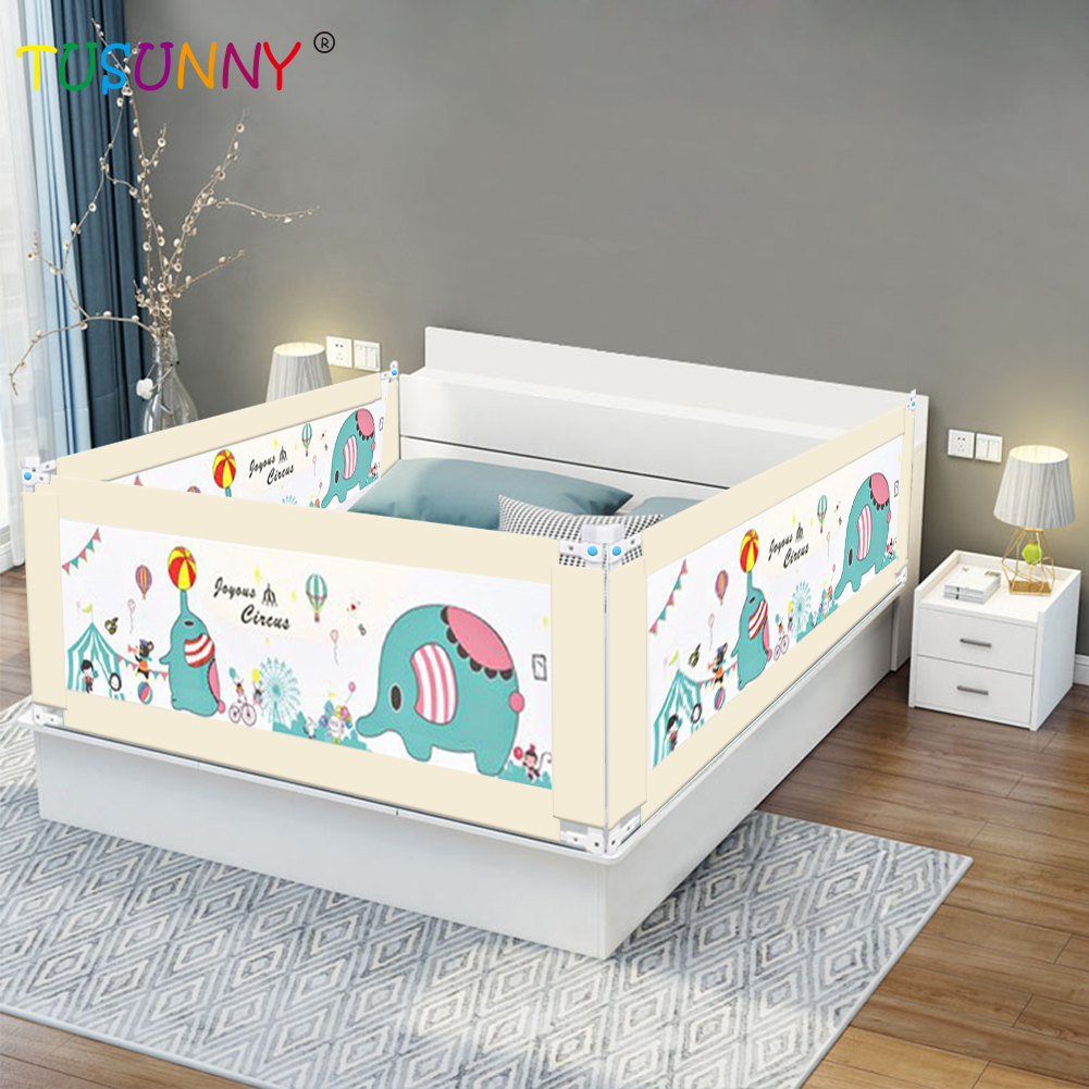 Foldable bed fence baby playpen crib safety fence for children baby bed rail barrier