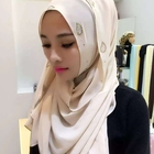 Scarf Leaf Scarf For Hijab 2020 Chiffon Solid Color Scarf With Leaf Rhinestone Malaysia Muslim Hijab For Women