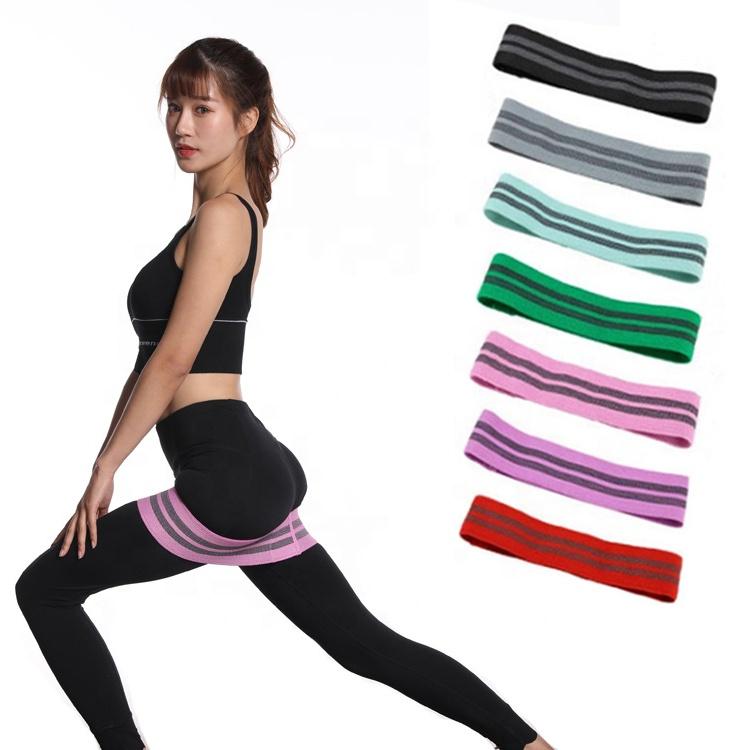 Тренировочное оборудование эластичная круглая хлопковая лента для йоги
