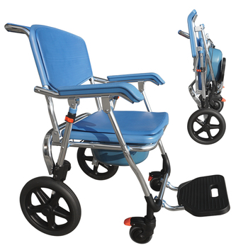 Handicap Bedside Portable Toilet Shower Commode Chair With Wheels