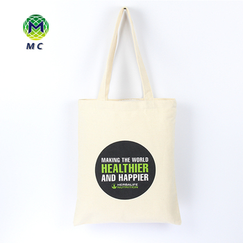 Promotional Health Care product silkscreen printed cotton canvas shoulder bag for shopping