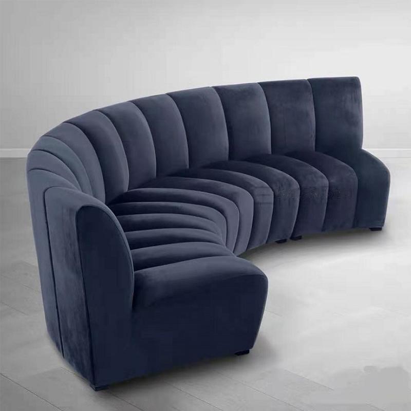 Nordic luxury sofa living room round sofa combination hotel lobby sofa