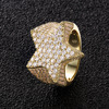 14K Gold Five-Pointed Star Ring